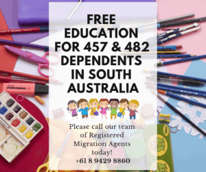 Free Education for Kids on 457 or 482 visas in Regional